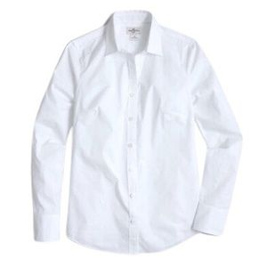 J. Crew Stretchy White Button-Down Work Shirt
